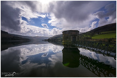 Stormy Reflections on Talybont Reservoir (Sharon Dow Photography) Tags: uk bridge light mountain holiday reflection water beautiful sunshine rain southwales wales clouds rural trekking wow walking landscape outdoors countryside nikon scenery view britain hiking dam country ngc scenic naturallight stormy breconbeacons hills valley attractive stunning fields blueskies welsh stillwater pontsticill cloudporn penyfan stormclouds spillway mountainrange 2016 talybont tafftrail bannaubrycheiniog talybontonusk talybontreservoir brinoretramroad parccenedlaetholbannaubrycheiniog nikond7100 sharondowphotography april2016 reflectionsontalybontreservoir