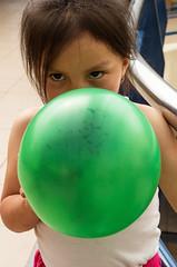 The Green Balloon (klauslang99) Tags: girl fun ecuador child play balloon streetphotography cuenca klauslang
