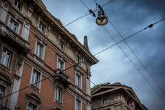 Bologna sky (silwolf) Tags: street city travel sky urban italy building tourism church lamp clouds buildings photography casa nikon strada italia nuvole chiesa cielo bologna lucio lampione citt dalla skyporn d7100