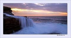 Wave waterfall (jongsoolee5610) Tags: sea seascape sunrise sydney wave australia maroubra