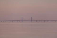 Calm at Sunset (Infomastern) Tags: bridge sunset sea sky water himmel tranquility calm serenity bro vatten hav höllviken solnedgång