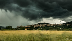Assisi (--marcello--) Tags: city longexposure italy storm clouds thunderstorm lightning assisi umbria temporale thunderbolt ndfilter fulmine