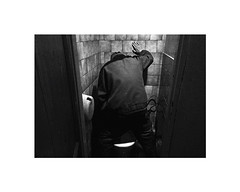 hand (Marek Pupk) Tags: life blackandwhite bw monochrome europe hand central documentary toilet slovakia