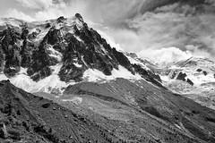 Aiguille du Midi (nigelhunter) Tags: cloud mountain snow tree ice car landscape plan cable du glacier scree midi chamonix mont blanc aiguille