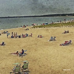 Craigville Beach Afternoon (mblakephoto) Tags: ocean summer people beach water fun outdoors sand capecod massachusetts cba beachchairs iphone craigville craigvillebeach craigvillebeachassociation