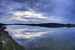 Roll River Roll (pauldunn52) Tags: sunset sea cloud by reflections river sand dunes salt marsh ogmore mawr merthyr