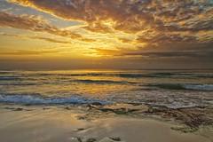 golden beach (John Andersen (JPAndersen images)) Tags: ocean sky clouds sunrise mexico golden waves caribbeanocean