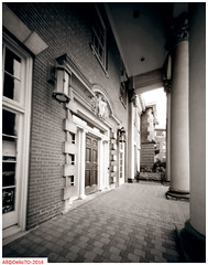 Law House UofT (DelioTO) Tags: city toronto ontario canada architecture blackwhite spring doors may pinhole historical 4x5 toned adoxchs100 autaut f175 aph09