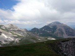 Monte Corvo from Pizzo Cefalone's north ridge (markhorrell) Tags: italy walking abruzzo gransasso apennines pizzocefalone