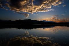 night falls in Abruzzo (@ntomarto) Tags: sunset italy lake landscape lago italia tramonto bomba paesaggio abruzzo maiella lagodibomba antomarto ntomarto