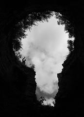 keyhole of nature (Panchello) Tags: keyhole   bw blackandwhite street streetphotography silhouette  monochrome