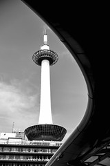 Kyoto Tower (georg19621) Tags: architecture tower genre bw season autumn kyoto japan