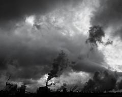 polluted silhouette (Mange J) Tags: chimney sky blackandwhite bw cloud black contrast factory pentax sweden smoke gray steam pollution sverige papermill storaenso värmland siluett värmlandslän fotosondag magnusjakobsson k5ii fs150329