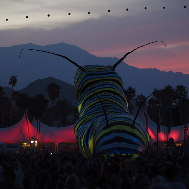 Watching the sunset @Coachella #Coachella2015