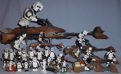 Biker Scout & Speeder Bike Collection (Darth Ray) Tags: bike star bikes scout collection scouts biker wars speeder hasbro