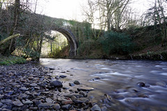 Sirhowy River under Penllwyn Tramroad Bridge, Sirhowy Valley Country Park