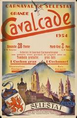 Carnaval de Slestat. Grande cavalcade, dimanche 28 fevrier 1954. (Static Phil) Tags: 1954 alsace vintageadvertising slestat carnavaldeselestat