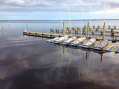 Camp Seafarer (shutterBRI) Tags: blue reflection water reflections boat nc northcarolina american carolina iphone carolinas 2015 shutterbri brianutesch iphone5 brianuteschphotography