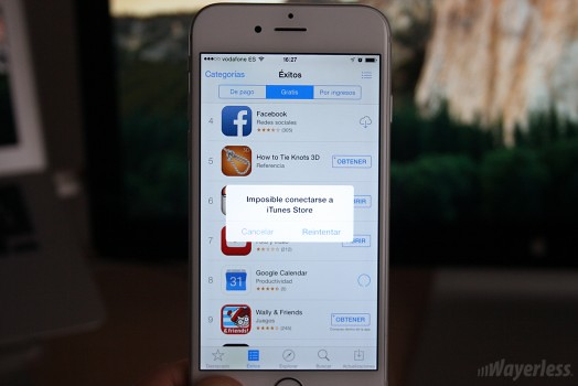 Apple reporta problemas en la App Store y sus demas tiendas
