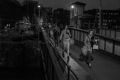 Hometime (Dafydd Penguin) Tags: street city uk bridge flowers girls england urban west home night port 35mm dark bristol walking dock nikon raw shot shots harbour candid country floating prince commuter after af nikkor d600 f2d