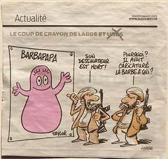 Barbapapa et les islamistes par Marc Large pour Sud-Ouest. (Marie-Hlne Cingal) Tags: taylor barbapapa marclarge