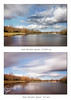 Before & After (Nomadic-Imagery) Tags: longexposure lake motion water clouds landscape countryside pond wideangle motionblur differences beforeandafter comparison cloudscape slowshutterspeed fastshutterspeed photographiceffects bwnd30filter bw10stopndfilter