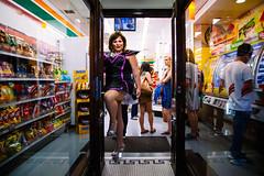 Oxford St, Darlinghurst. 6:56 pm (andrewcbraithwaite) Tags: street sydney lgbt transvestite trans mardigras seveneleven 2015 mardigrassydney mardigras2015