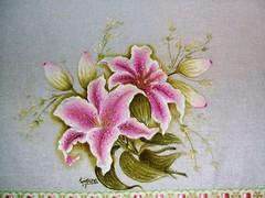 orquidia pano de prato 2 (LID ARTS) Tags: de em prato panos pintura tecido