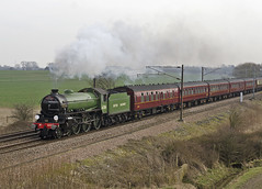 61306 Burn 12-03-15 (prof@worthvalley) Tags: uk railroad all transport railway steam locomotive types mayflower b1 61306