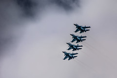 Russian Fighters (kuhnmi) Tags: clouds airplane army bay fly flying cloudy russia aircraft military flight jet formation flugzeug armee militr fliegen kamchatka  figher militaryaircraft russland  bewlkt avachinsky  kampfflugzeug  russianairforce militrflugzeug