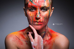 Colours & Beauty (Lo_straniero) Tags: portrait color beauty make up paint colours skin younesstaouil