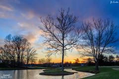 Sunset- April 2, 2015 (zachary.locks) Tags: trees sunset sky water beautiful grass golf spring pond colorful hurricane course wv westvirginia sleepyhollow teaysvalley cy365 zlocks