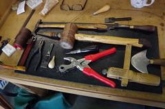 Saddlers Tools (debbiestringer13) Tags: england tools workbench saddlery saddlerstools