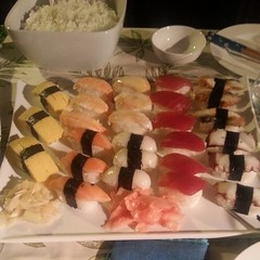 Yum, sushi at Alan & Cecilia's