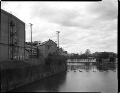 Pratt Mill & Dam (leeharrison76) Tags: park heritage mill film architecture speed graphic dam alabama delta d76 epson 4x5 sheet 100 press ilford graflex pratt selfdeveloped prattville industrialarchaeology v700