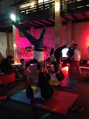 Acro Yoga at night
