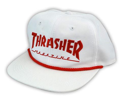 Thrasher White Hat (oldskullskateboards.com) Tags  old school red white hat  price 91e4efd4fc65