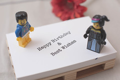 Happy Birthday & Best Wishes (dannymol) Tags: colour macro horizontal toy toys lego minifigures