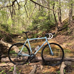 Still a bit sick, but feels good to be back in the woods. #weavercycleworks #custombicycles #steelisreal #cyclocross #cx