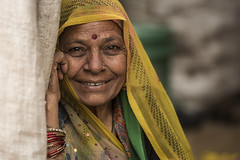 DSC_8480 (zuhri) Tags: street old travel people woman india beautiful smile photography asia colours unique mother agra colourful shawl