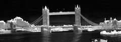 Tower Bridge, London - thermal image (Ultrapurple) Tags: bridge hot cold london scale towerbridge grey weird cool warm experimental invisible warmth experiment belfast science heat infrared 8bit temperature thermal android nightvision lowres scientific falsecolor falsecolour imager thermalimage weirdscience germanium thermalcamera thermogram thermograph thermographic thermalimager lwir uncooled thermapp microbolometer bridgelondonhms germaniumlens