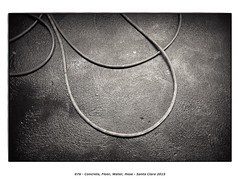 Concrete, Floor, Water, Hose (Godfrey DiGiorgi) Tags: california urban bw stilllife usa abstract detail concrete hose neighborhood santaclara