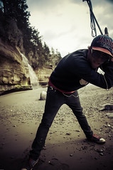 Mystic Beach 2014-2 (~138~) Tags: ocean beach outdoors waterfall sand friend bc pacific britishcolumbia posing vancouverisland pacificocean pacificnorthwest brennan 2014 mysticbeach vanisle dereklawrence derek138