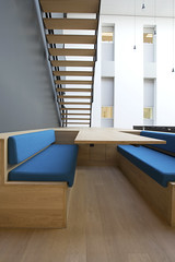 Office Talk (Matthijs Borghgraef | Kwikzilver) Tags: blue by architecture stairs table design office matthijsborghgraef furniture interior steps floating staircase seating egm architecten kwikzilver fokkemapartners