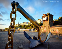 Bruce Anchor (cabmanstu) Tags: bridge coast harbour bruce anchor douglas isleofman quayside