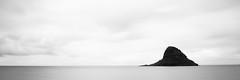 Chinamans Hat (hartvigs) Tags: longexposure blackandwhite bw landscape hawaii blackwhite ohau chinamanshat landscapephotography blackandwhitelandscapes hawaiilandscape nd110 hawaiiblackandwhite fujix100s x100s