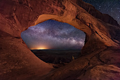 Partition Arch (Wayne Pinkston) Tags: longexposure nightphotography sky night stars utah nikon arch nightscape arches galaxy astrophotography moab nightsky archesnationalpark partition cosmos milkyway stonearch partitionarch widefieldastrophotography landscapeastrophotography waynepinkston wwwwaynepinkstonphotoco