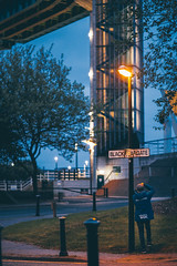 Tidal Barrier // Hull (Alasdair Jackson) Tags: city urban night canon lights culture 100mm kingston barrier hull tidal upon 6d f20 2017 of