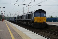 """Direct Rail Services Class 664's, 66421 & 66425 (37190 """"Dalzell"""") Tags: gm shed northwestern compass revised wigan dred generalmotors class66 drs directrailservices 66421 66425 class664 tescotrain"""