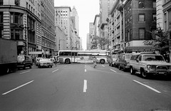 New York City, 1983 (Avard Woolaver) Tags: street newyork trix 5thavenue rollei35s